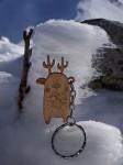 Nieśmiały Jelonek - Drewniany brelok