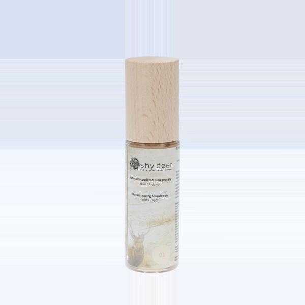 Naturalny podkład pielegnujący - kolor 01 Shy Deer - kosmetyki naturalne